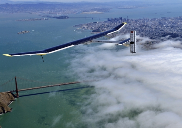 Not my photo. Belongs to © Solar Impulse / Jean Revillard.