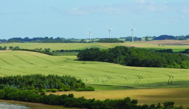 Samso landscape with wind turbines. Not my image.